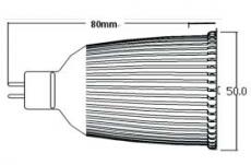 MR-16PA, 9 W, 6000 K